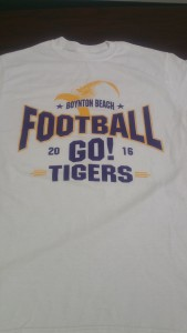 Boynton Beach High School Football T-Shirt (Front)